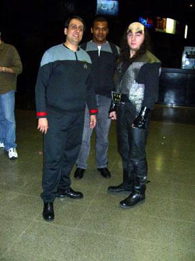 Almirante Wilton, da FFESP, e o Klingon Sandro