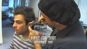 teste da orelha