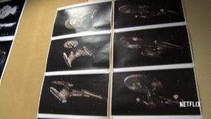 Arte de pré-produção da nave Discovery