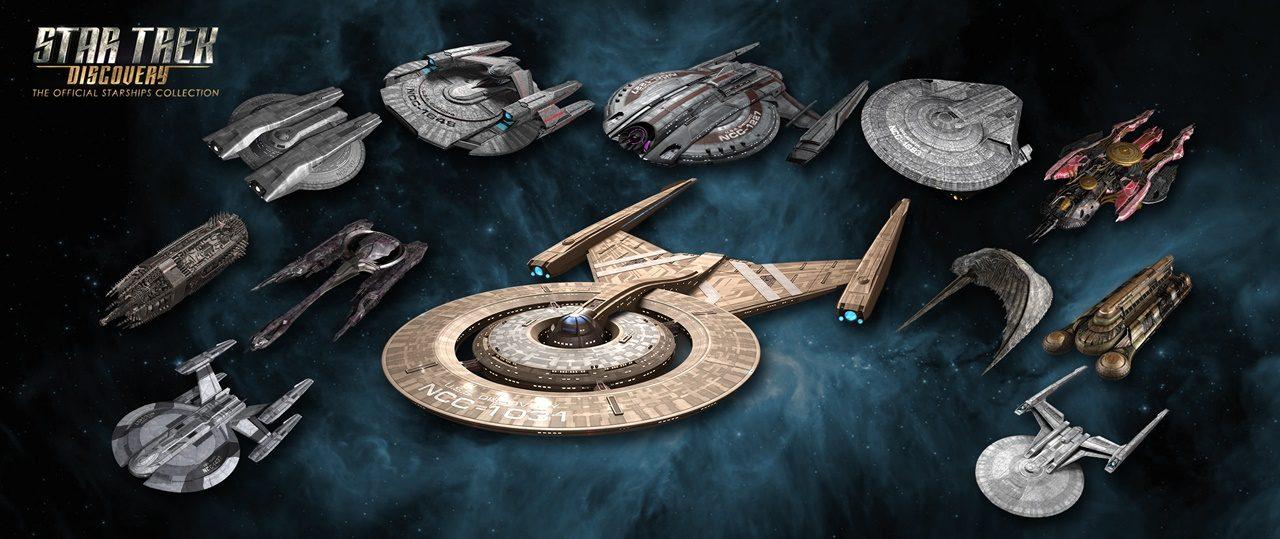 Primeiro visual das naves de Discovery pela Eaglemoss