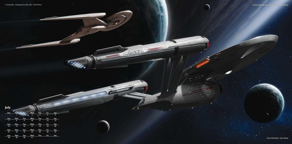 USS Enterprise de Discovery no calendário de naves