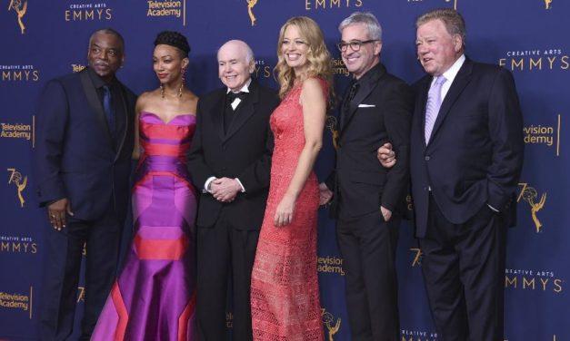 Atores de Star Trek reunidos para o Emmy honorário