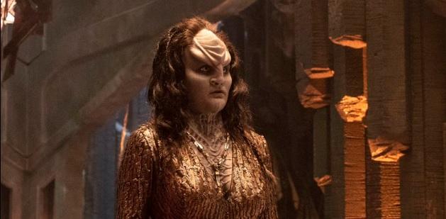 Vislumbre de L'Rell com cabelo em Discovery temporada 2